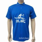 Men's/women's polo deep blue shirt, made of polyester