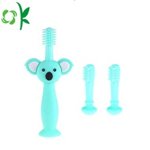 Cartoon Bear BPA Free Silicone toothbrush Baby