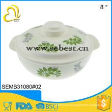 diseño de riginal de bajo precio redondo tazones de fuente de melamina con tapa