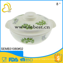 low price riginal design round melamine serving bowls with lid