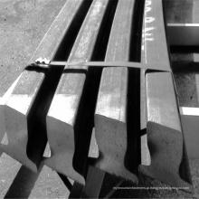Trilho de aço do trilho de guia do guindaste