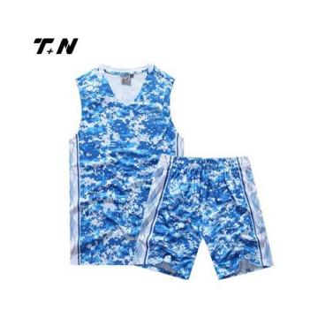 Senaste reversibla basketball uniform design anpassad basketjersey