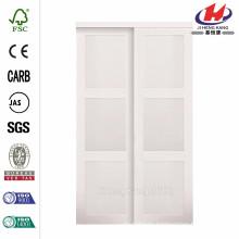 60 дюймов x 80 дюймов. 2030 серия Композитный белый 3-Lite Закаленное матовое стекло Раздвижные двери