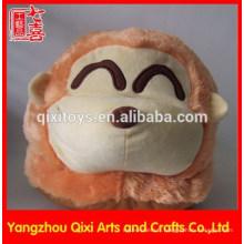 Meilleure vente hiver pantoufles de singe en peluche en gros pantoufles animaux