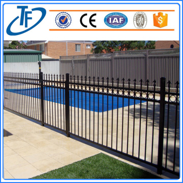 Schwarze Heavy Duty Security Garnison Zaun Panel