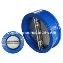 OEM ferro fundido tipo wafer dupla placa borboleta válvula de retenção