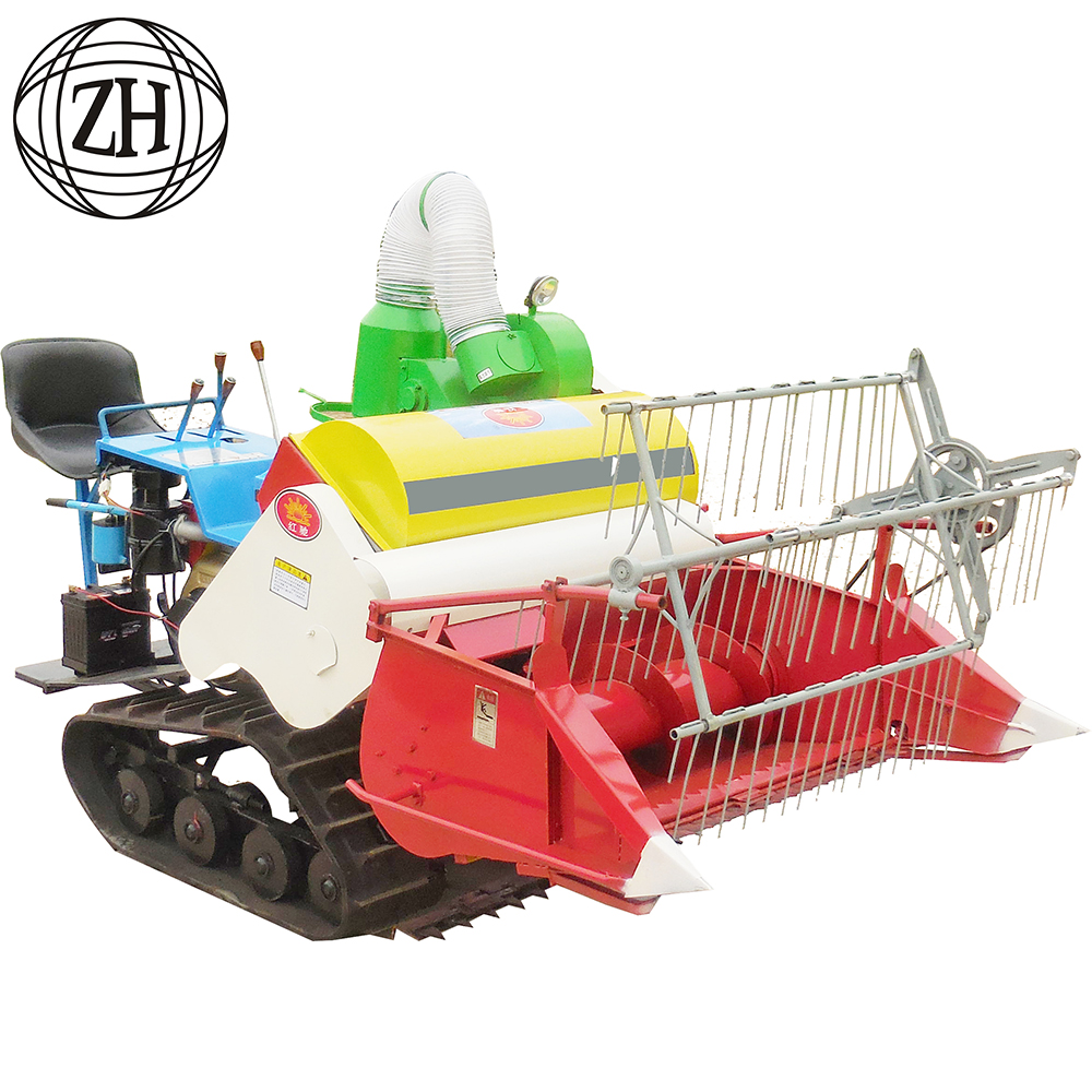 Crawler Type 1000mm Cutting Range Mini Rice Combine Harvester Price