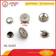Aleación de zinc grabado bolsos remaches para la decoración de bolsas