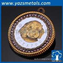 personnalisé unique animal mignon animal domestique décoration métal étiquette d'identification du chien