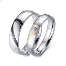 2017 creative cute gold love life couple ring for couple