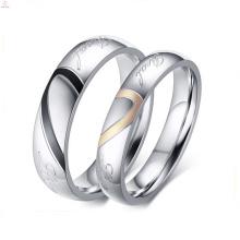 2017 творческий симпатичные золотой любовь пара кольцо для пары