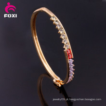 Moda design pavimentar configuração CZ Bangles clássico bracelete para as mulheres