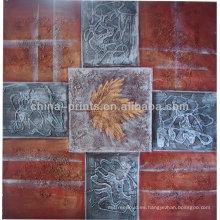 Pintura al óleo abstracta hecha a mano para la decoración casera