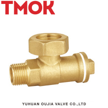 brass horizontal Chrome plated ferrule stop valve