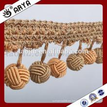 Hangzhou taojin franja hecha a mano tejida textil para la tela casera o la lámpara de tabla