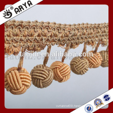 hangzhou taojin textile woven handmade fringe for home textile or table lamp