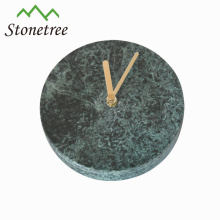 Wholesale New Mechanical Digital Table Green Round Marble Clock