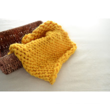 Manta de bebé tejida a mano Tejer hilado grande lana merino