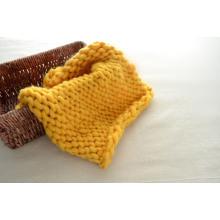 Knit Baby Blanket Hand Knitting Big Loop Yarn Merino Wool