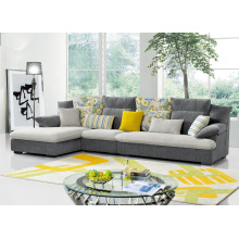 Canapé d'angle de tissu populaire Mobilier de salon moderne