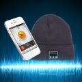 Wholesale 100% acrylic bluethooth beanie knitted music caps headset speaker wireless Mic