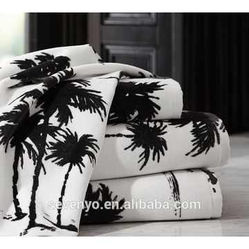 Горячая распродажа кокосовое дерево Жаккард банное полотенце Бтт-015 оптом