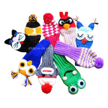 Golf Club Head Covers, Mão Crochet Golf Club Covers