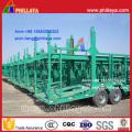 2-Achsen-4-Rad Skelett Typ Auto Transport Semi Truck Trailer (8 Autos)