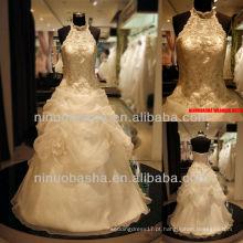 Q-6259 Halter Lace Bodice Vestido de casamento Vestido de noiva Vestido de noiva