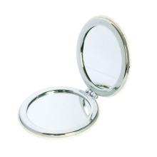 Maquillage rond en aluminium fait sur commande de métal / contrat / poche / miroir cosmétique