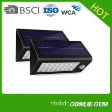 Factory Wholesale cheap price solar motion sensor lights outdoor wall garden lamp