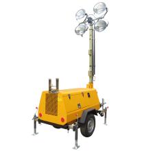 Industrieller tragbarer Lichtmast mit LED-Lampen