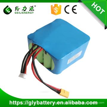 Geilienergy High Capacity Customized 4s4p 18650 Batería recargable de iones de litio