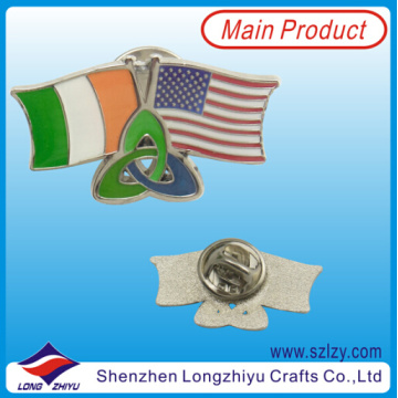 Military Flag Badge of Irland and America