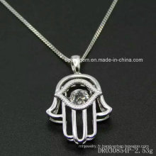 100% 925 Sterling Silver Dancing Stone Charm Pendant Necklace Cheap Silver Jewelry