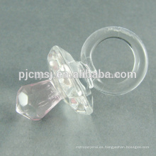 Nuevo diseño - chupete de cristal barato para regalos de bebé