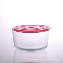 Большие Borosiliate стеклянная чаша с крышкой