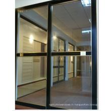 Porte coulissante intérieure en aluminium