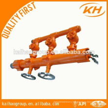 API casing/ drill pipe cement head &double plug/ Single-plug cementing head