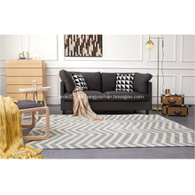 Alfombra de microfibra con diseño geométrico para sala de estar
