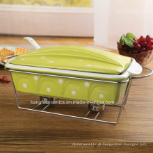 Barato Antiaderente Porcelana Bakeware (conjunto)
