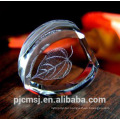 New Design Wholesale 3D Laser Engraved Crystal For Ornaments
