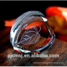 New Design Wholesale 3D Laser Engraved Crystal For Ornaments