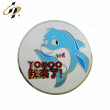 Wholesale die cut metal gold enamel paint pin badge