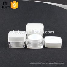 15g, 30g, 50g atacado alta qualidade quadrado branco cosméticos creme frasco vazio