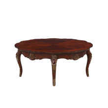 Classic luxury antique carving living room wood sofa center table