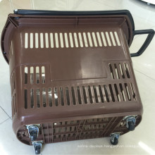 Supermarket Store Plastic Shopping Rolling Basket