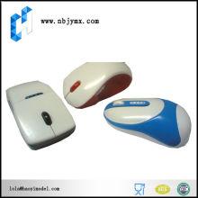 Mouse caso com pintura de cor differant protótipo rápido cnc de plástico