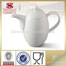 Pot de thé en céramique en céramique en porcelaine personnalisé, pichet de café blanc