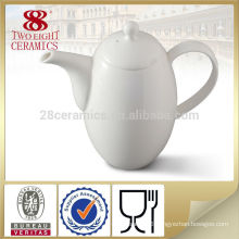 customized porcelain ceramic turkish tea pot , white coffee jug